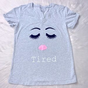 💤First Impressions Tired Graphic Sleep T-Shirt💤